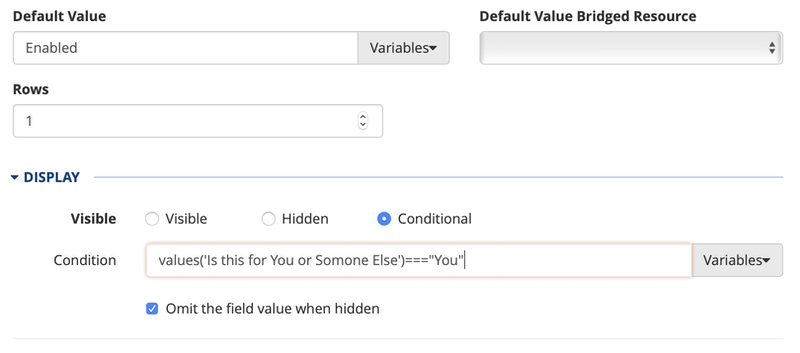conditional example