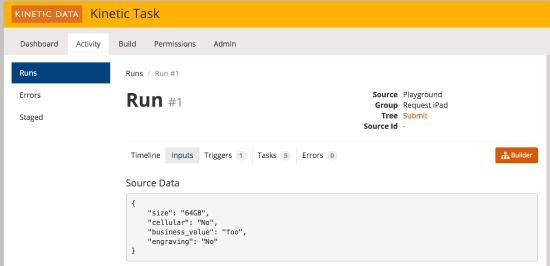 source data screen