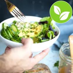 Arroz integral con verduras y aliño oriental