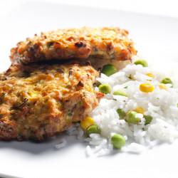 वसंत के साथ चावल बर्गर