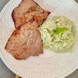 Steak mit reis koriander