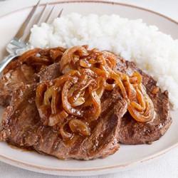 चावल के साथ अपने रस में मांस