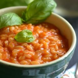 Tomato a basil risoto