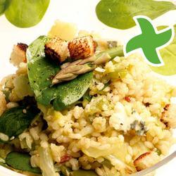 """Salad cynnes o """"thermomix"""" reis gwyllt"""