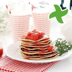 "Pfannkuchen mit rotem fruchtsauce ""thermomix"""