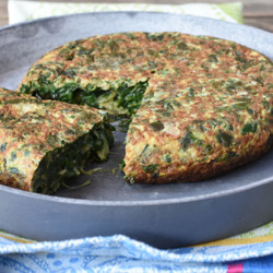 Chard omelett