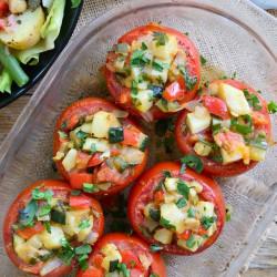 Tomato stuffed veggie
