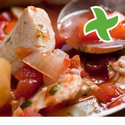 Seebarsch mit kartoffeln und tomaten auf die gratin thermomix