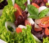 Lechuga, tomate y cebolla
