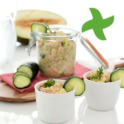 "Quinoa salade, salm en komkommer ""thermomix"""