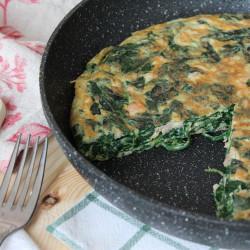 Plantaardige omelet mei ierappels browned