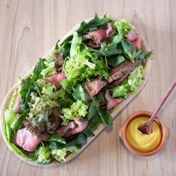 Roast beef mei mix green leaves