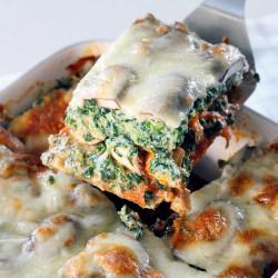 Spinat-pilz-lasagne kinder