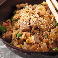 Pork rice chaufan kids