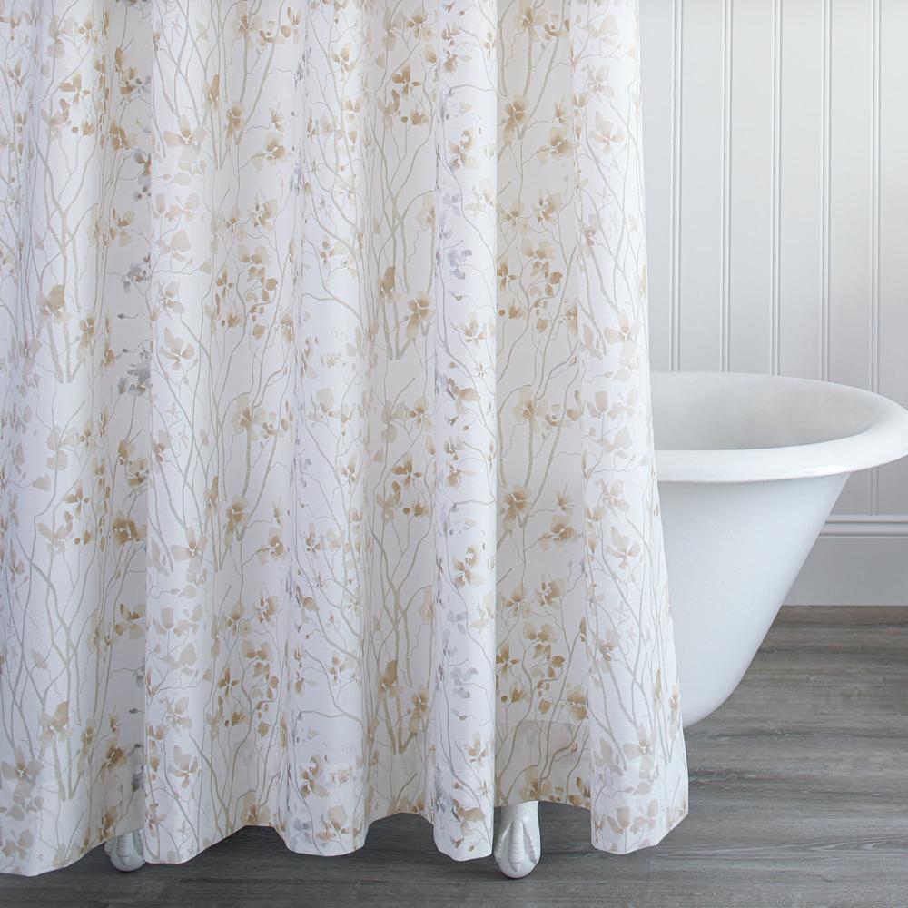 Almond Blossom Shower Curtain image 1
