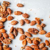 Sugar & Spice Candied Nut Mix After Salting