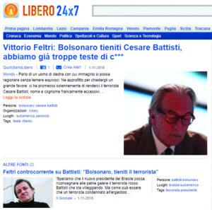 Bolsonaro segundo a imprensa da bota