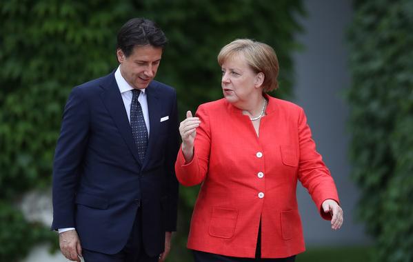 Conte recebe Merkel para debate sobre desafios da UE