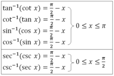 Exact Values for Inverse Sine, Cosine, and Tangent ( Read ...