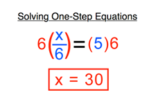 One-Step Equations Transformed by Multiplication/Division