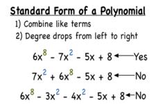 Polynomials in Standard Form ( Read )   Algebra   CK-12 Foundation
