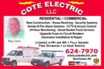 Website for Cote Electric, LLC