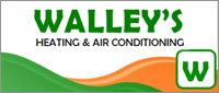 Website for Walley's Heating & Air Conditioning, LLC.