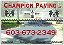 Website for Champion Paving, LLC