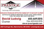 Website for Prestige Auto Body, Inc.