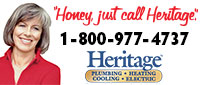 Website for Heritage Plumbing, Heating, Cooling, Electric