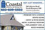 Website for Coastal Windows and  Siding Inc