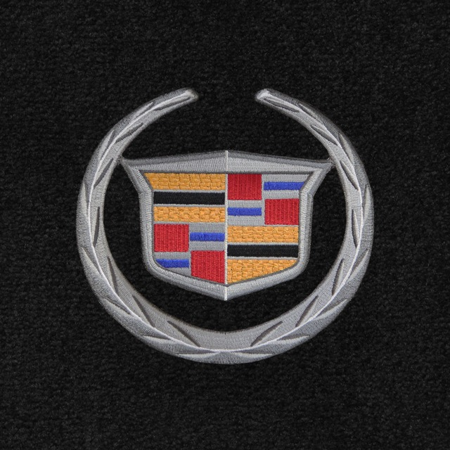 Cadillac Crest Silver - On Applique