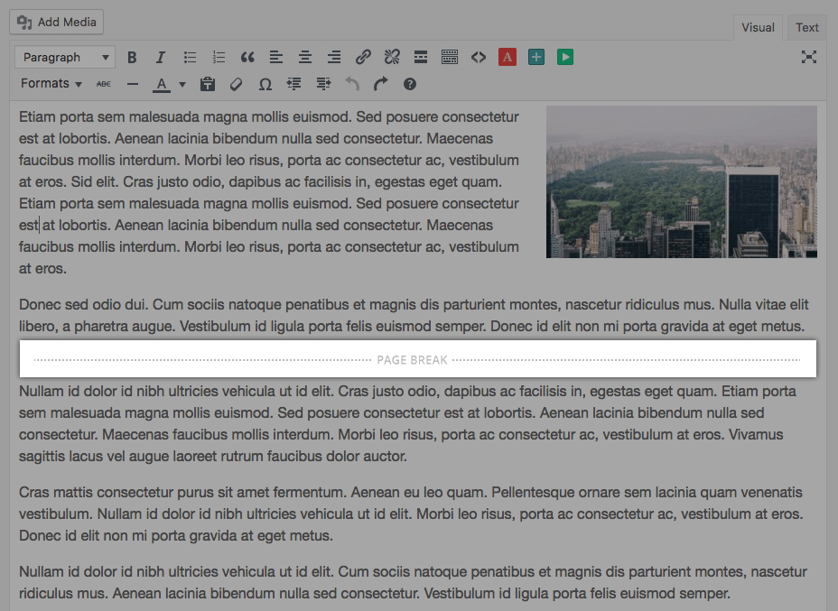 Example contant editor