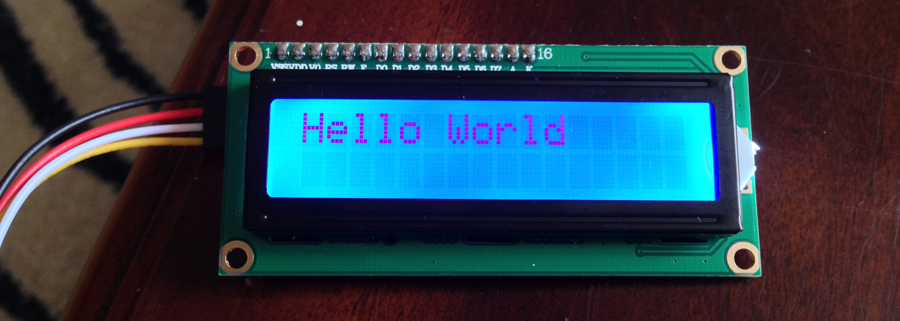 Hello World on 16x2