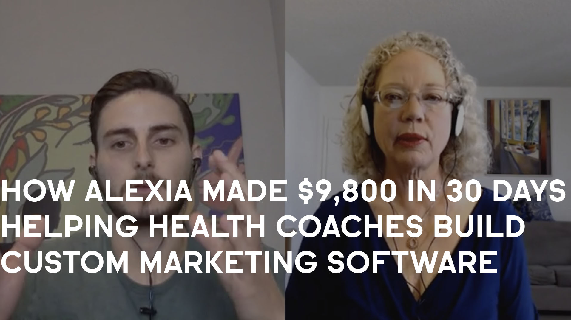How Alexia Made $9,800 In Just 30 Days Helping Health Coaches Build Custom Marketing Software