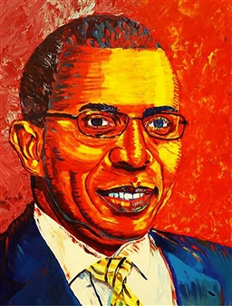 Markeith Woods - 2013 UAPB Chancellor Acrylic on Canvas, Paintings
