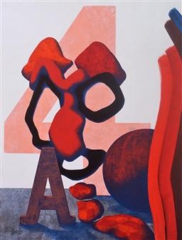 George Casprowitz - Draft Status Acrylic on Paper, Paintings