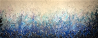 Tiffany Reid - Reverie Acrylic & Copper Cinder with Resin Finish on Canvas, Mixed Media