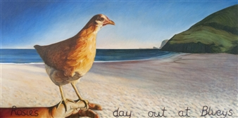Sandra Guy - Rosie's Day Out at Bluey's Oil on Canvas, Paintings
