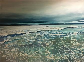 Gabriella Mirabelli - Aquinnah Shallows Acrylic on Canvas, Paintings