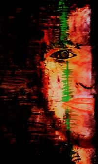 Franck Sastre - Judith Mixed Media on Canvas, Mixed Media