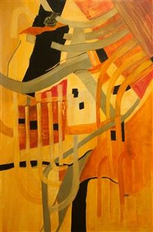 Pauline Rakis - I Can Hear the Music Acrylic on Canvas, Paintings