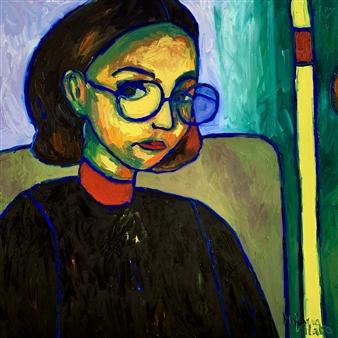 Milana Alaro - Subway Stories - Selfportrait Oil on Canvas, Paintings