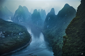 Mireille Pizzo - Karsts Formations & Li River Photograph on Metallic Paper, Photography