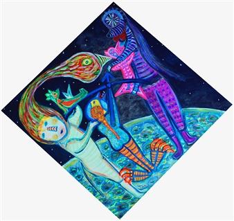 Paula Sayago Lundin - Stars Acrylic on Canvas, Paintings