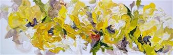 Rachelle Brady - Yellow Glow Oil on Canvas, Paintings