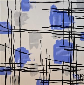 Nancy Landauer - Pick Up Sticks Acrylic on Canvas, Paintings