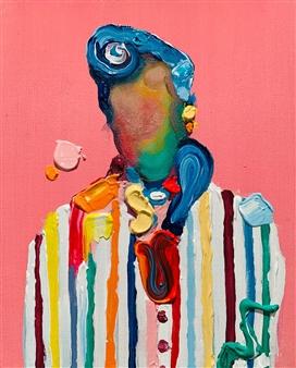Kazusa Matsuyama - -Anonymous Portrait 02- Acrylic on Canvas, Paintings