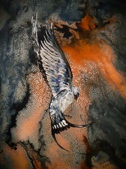 Anders Ekelund - Swallow Acrylic & Oil on Canvas, Paintings