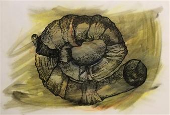 Manuel Riquelme Loyola - Touch Me Pastel on Paper, Paintings